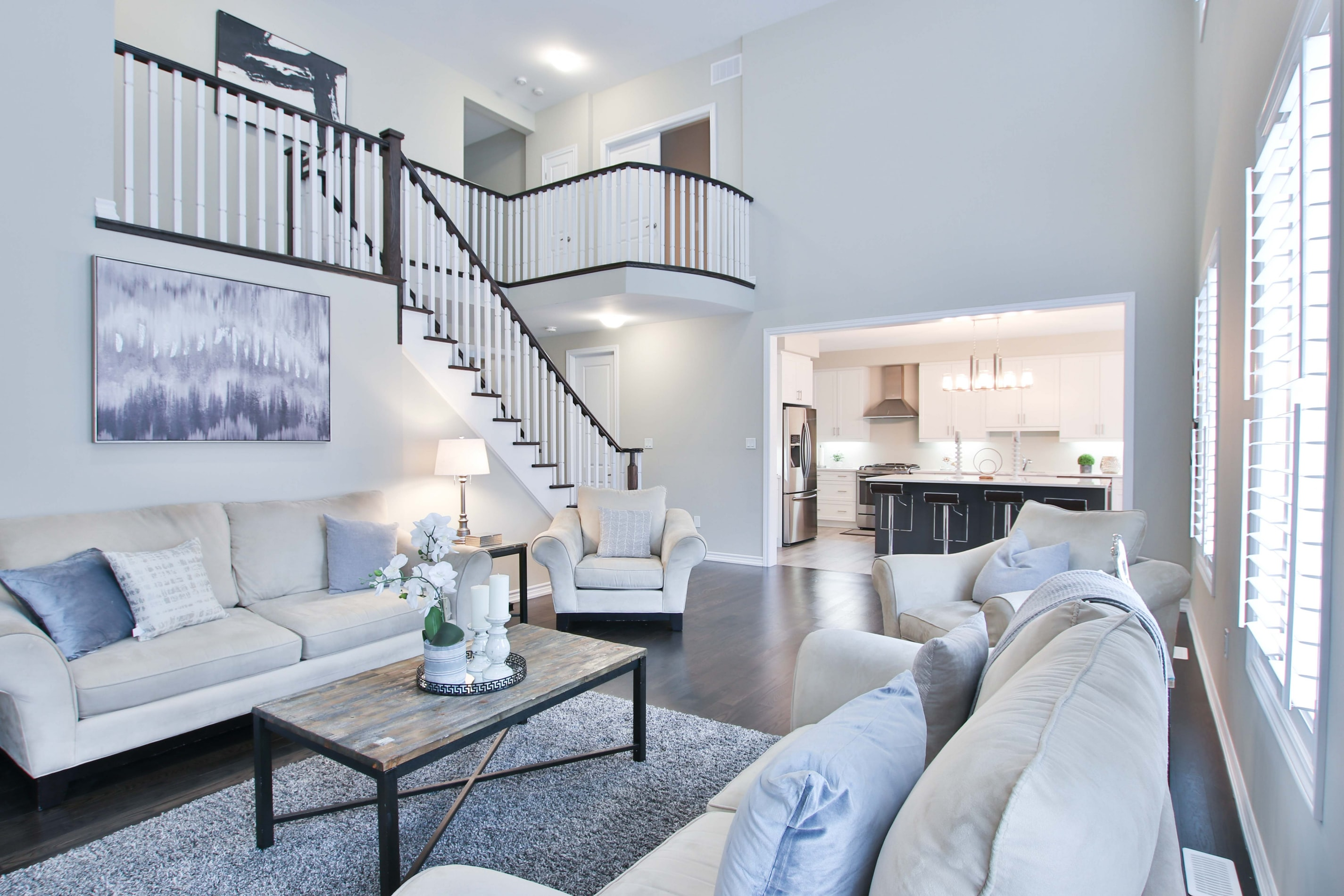 Staged living area in Malvern East